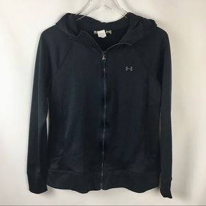 Under Armour Jackets & Coats - Under Armour Black Athletic Hoodie Full Zip Jacket